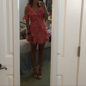 princess polly red floral dress!! worn once